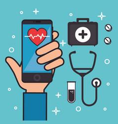Medicine online healthcare icons vector
