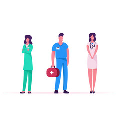 medicine profession occupation doctors and vector image