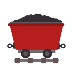 mining train cargo icon vector image