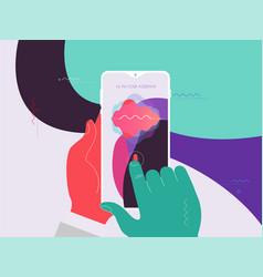 Mobile app ui personal voice assistant concept vector
