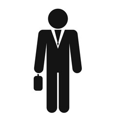 modern businessman icon simple style vector image