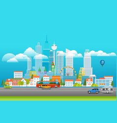 modern cityscape city panarama with logo vector image