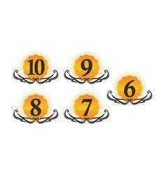modern logo number set vector image