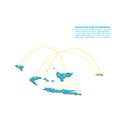Modern of indonesia map connections network vector