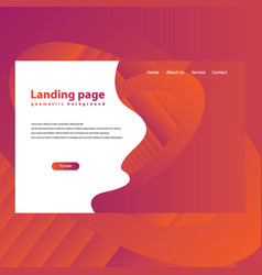 Modern trendy landing page and background vector