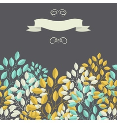 Natural background with branches of leaves and vector image