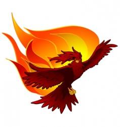 Phoenix in flight vector