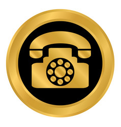 Phone button on white vector