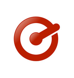red circle electronic power letter e initial icon vector image