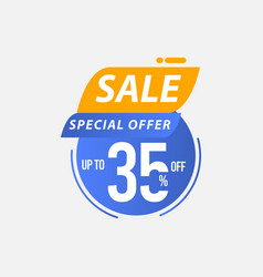 Sale special offer up to 35 off limited time only vector