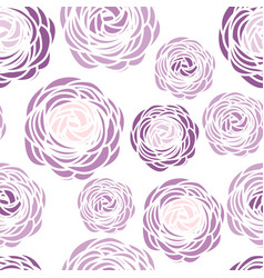 Seamless pattern with purple flowers vector