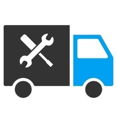 Service Van Flat Icon vector image