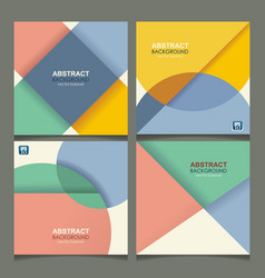 Set of banners with geometric design can be used vector