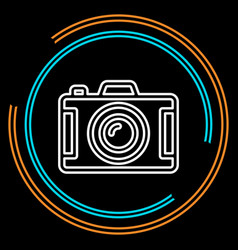 simple camera thin line icon vector image