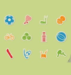 Sport balls icon set vector