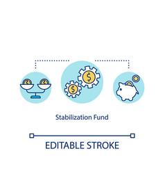 Stabilization fund concept icon financial crisis vector