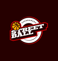 Streetball modern professional sport typography vector