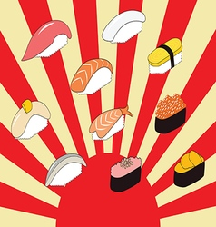 Sushi is good vector image