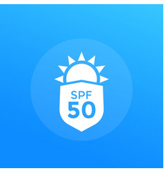 Uv protection spf 50 vector