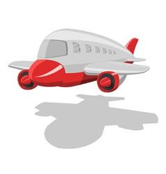 Vector cartoon airplane vector