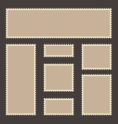 vintage postage stamp set blank postage stamps vector image