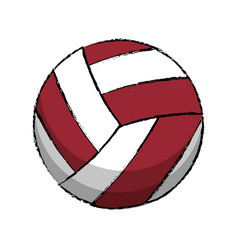 Volleyball sport game icon vector