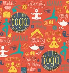 Yoga lifestyle seamless pattern vector