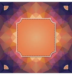 Colorful kaleidoscope background with label for vector