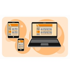 Electronic device icons in cartoon style vector image
