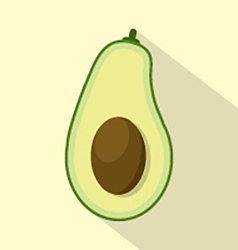 Flat design avocado icon vector