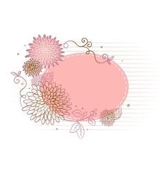 Floral backgrond vector image vector image