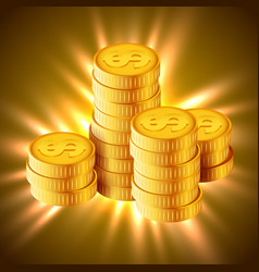 golden coins concept of vector image