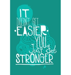 Poster on a blue background with quote vector image