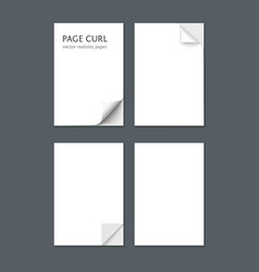 white sheet of paper isolated on dark gray vector image