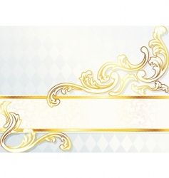 beautiful horizontal rococo wedding banner vector image