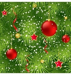 Christmas tree fir branch seamless background vector image vector image