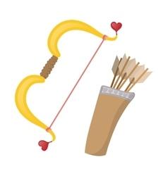 Cupids bows cartoon icon vector image vector image