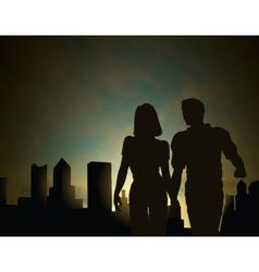 dawn city vector image vector image