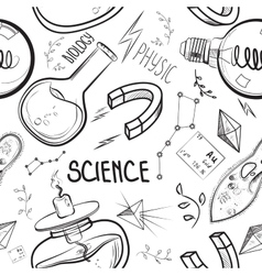 Hand drawn science set vector image