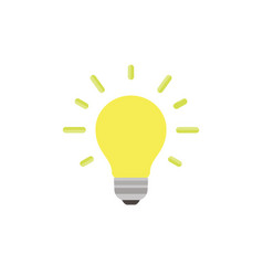 light bulb icon isolated idea design art business vector image vector image