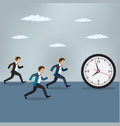 race against time vector image vector image