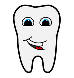tooth is smiling for medicine vector image