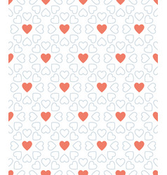 blue dot and red heart valentine day pattern vector image vector image