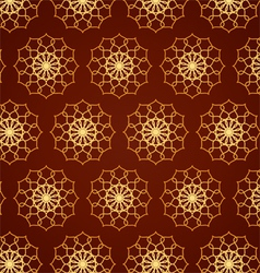 Classic Gold Flower Pattern on Blown Color vector image vector image