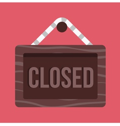 Closed Hanging Sign Icon vector image vector image