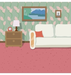Indoor location background vector image vector image