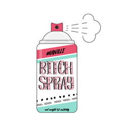 90s bitch spray comic funny vector image vector image