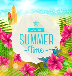 Banner with summer greeting vector image vector image