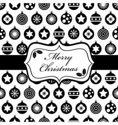 black and Christmas wrapping vector image