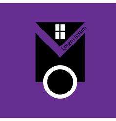 Real estate logo design template vector image vector image
